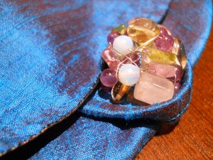 "the ""bead"" I made from a bunch of semi-precious stone I had lying around"